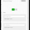 Word Filter for Google Chrome