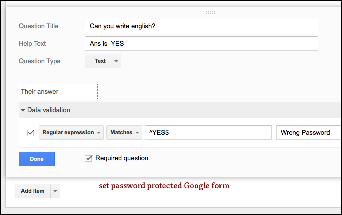 how to create google application form
