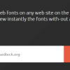Get Real-Time Preview of Google Web Fonts on Any Website